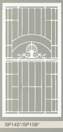 Budget Screens Amp Awnings 187 Cast Panel Decorative Doors